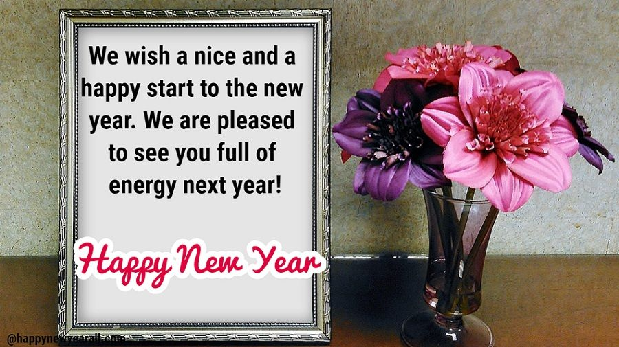 New Year Greetings for Employees
