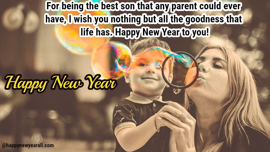 new year greetings for son