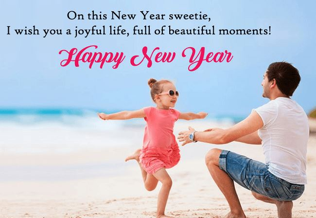 New Year Greetings for Daughter