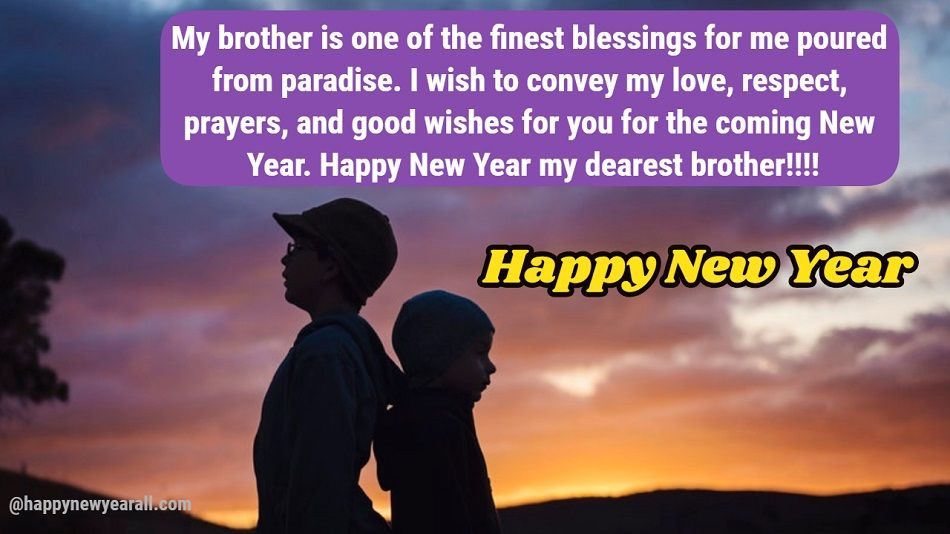 New Year Wishes Brother