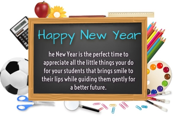 happy new year wishes to teacher