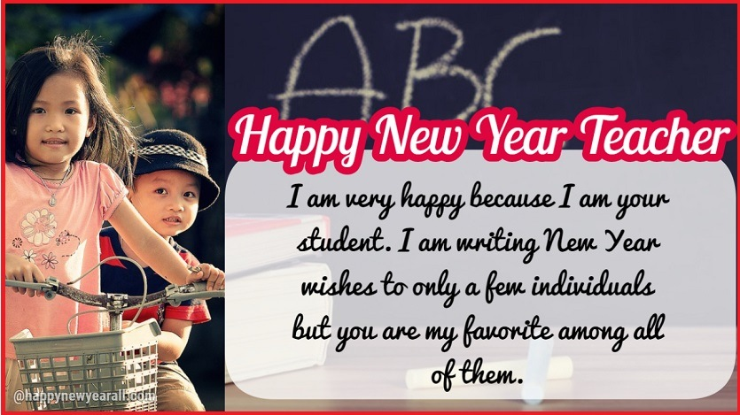 new year wishes to teacher