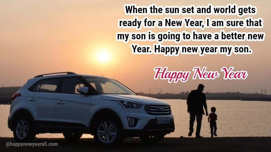 happy new year greetings for son