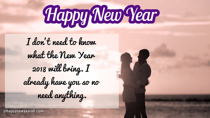 Happy New Year Quotes for Lover