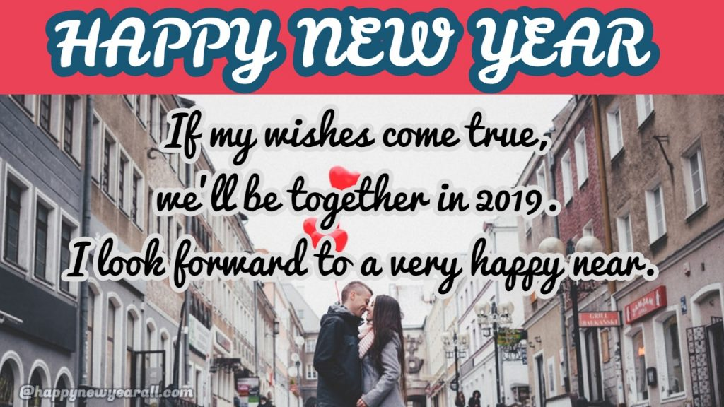 romantic new year wishes for lover