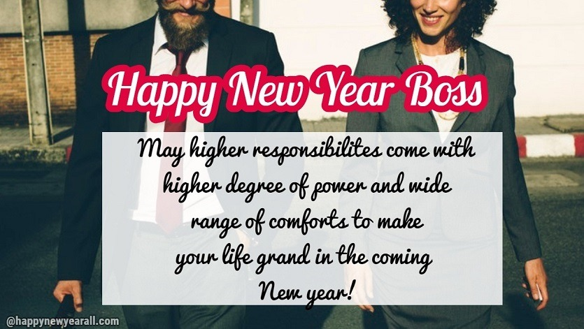 New Year Message for Boss