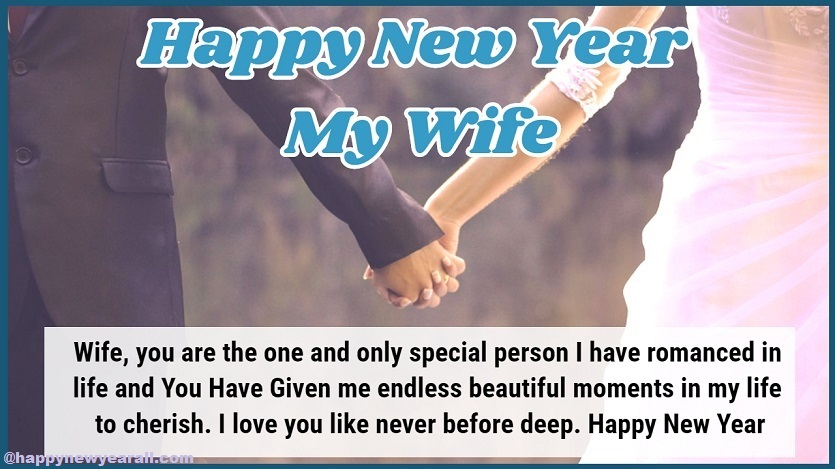 New Year Wishes to Wife from Husband