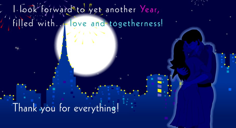 new year wishes for sweetheart