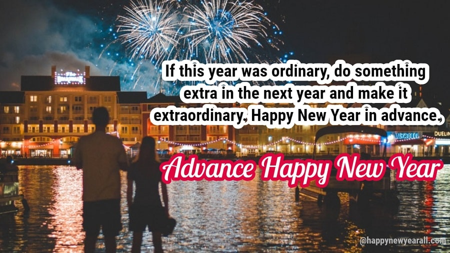 Advance New Year SMS messages