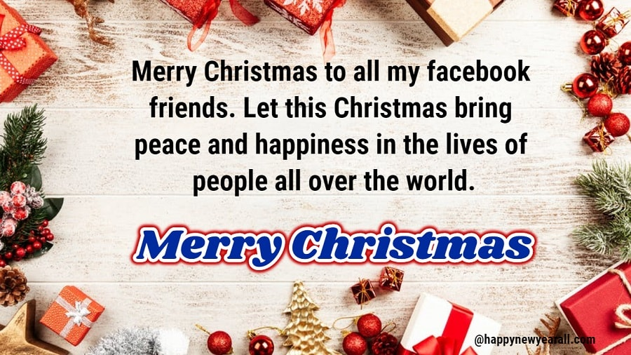 Christmas greetings message for facebook posts