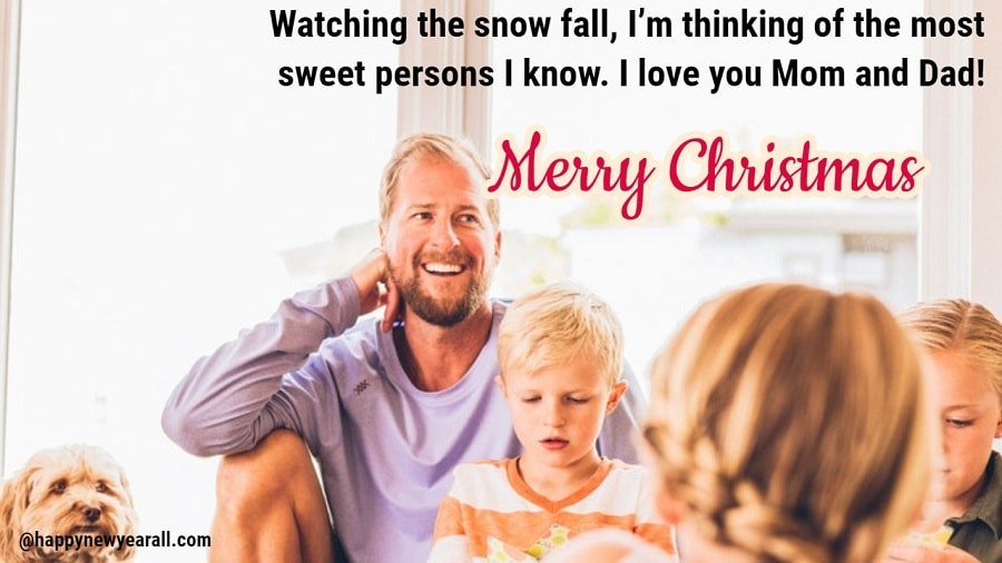 Christmas wishes messages for parents