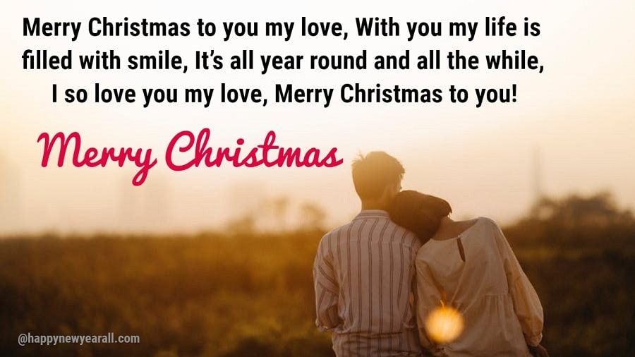 Romantic Merry Christmas Messages for Boyfriend