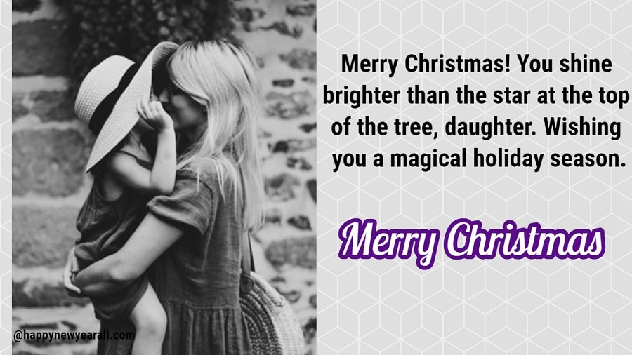 Happy Christmas Wishes Messages for Daughter