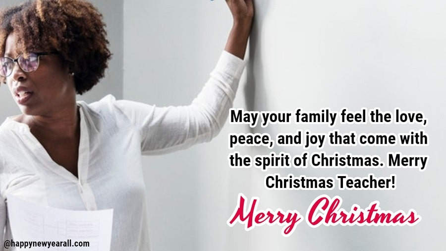 195+ Happy Merry Christmas 2019 Messages Wishes for Teachers From ...