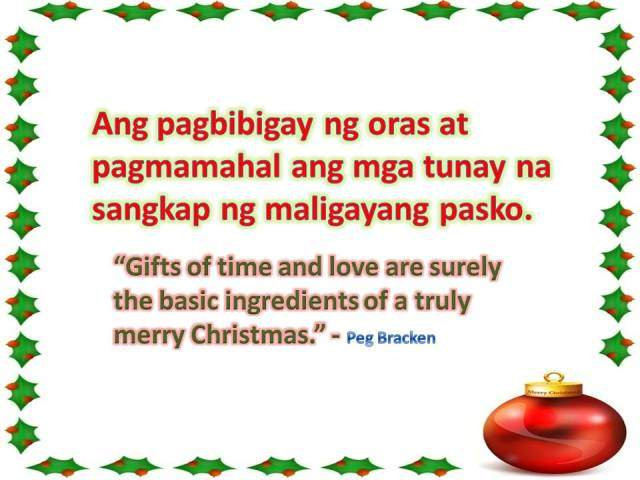 Merry Christmas Tagalog Greetings