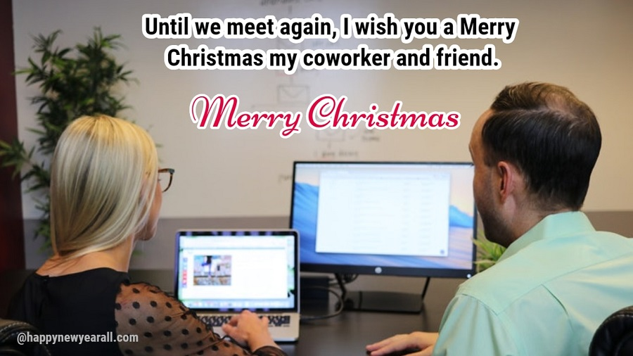 Merry Christmas Wishes Messages for Co-Workers - Happy New Year 2019