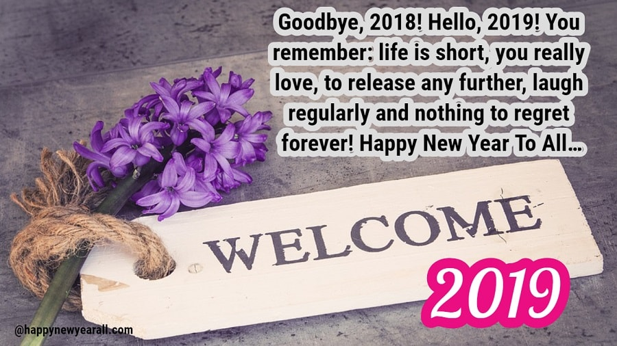 Goodbye 2018 Welcome 2019