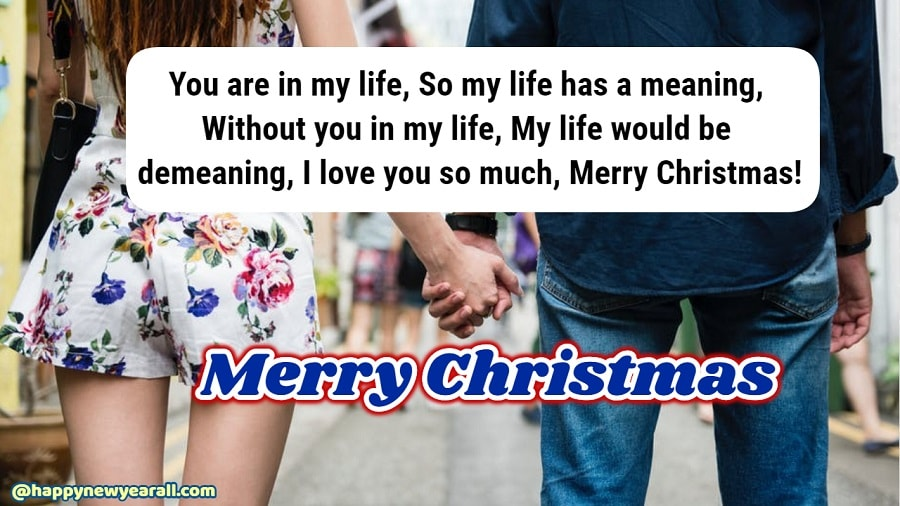 Merry christmas message for girlfriend
