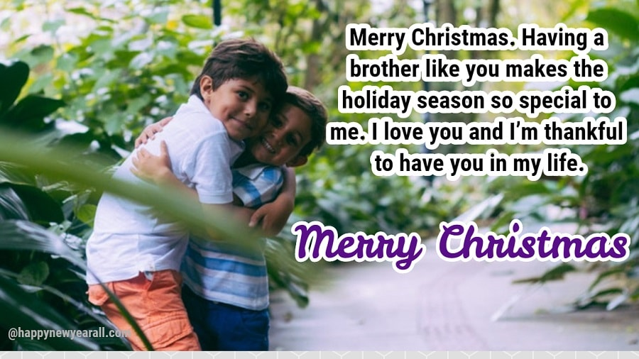 Happy Christmas Messages for brother