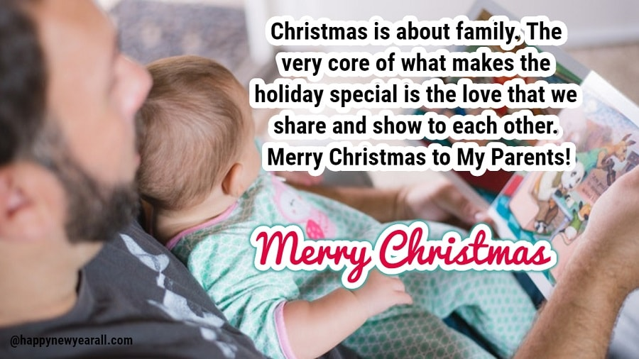 Merry Christmas 2019 Wishes for Parents