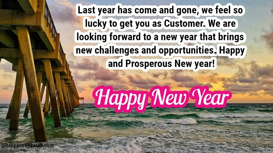 New Year Text Message for Clients