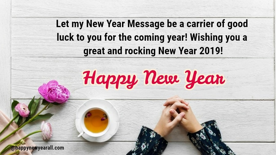 Happy new year greeting cards 2019