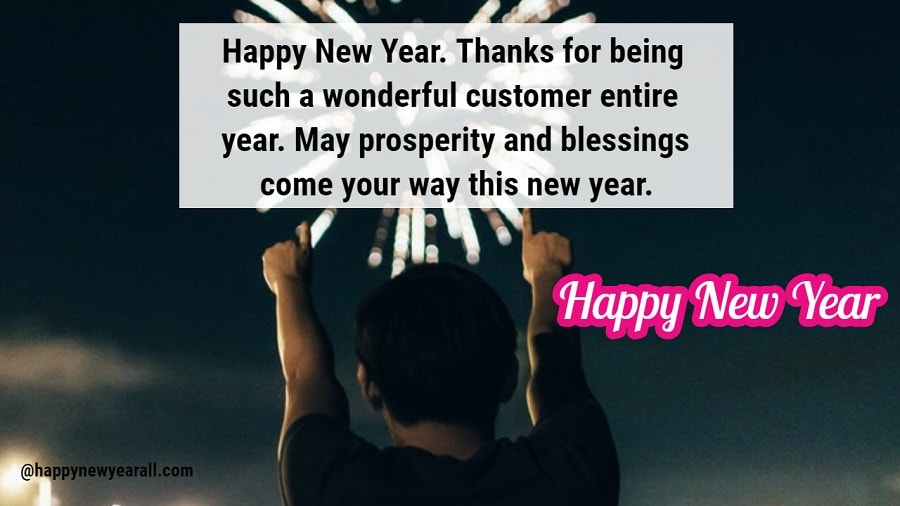 Happy New Year Wishes for Business Client