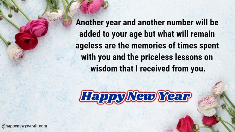 New Year Wishes to Elders