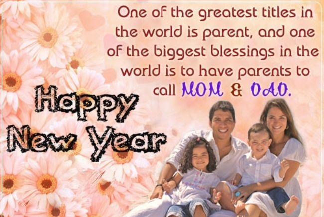 New Year Wishes to Parents
