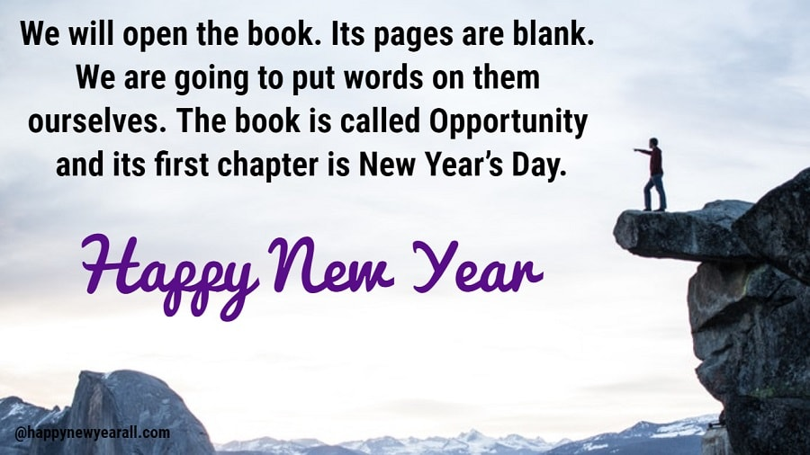 Inspirational new year Quotes and images