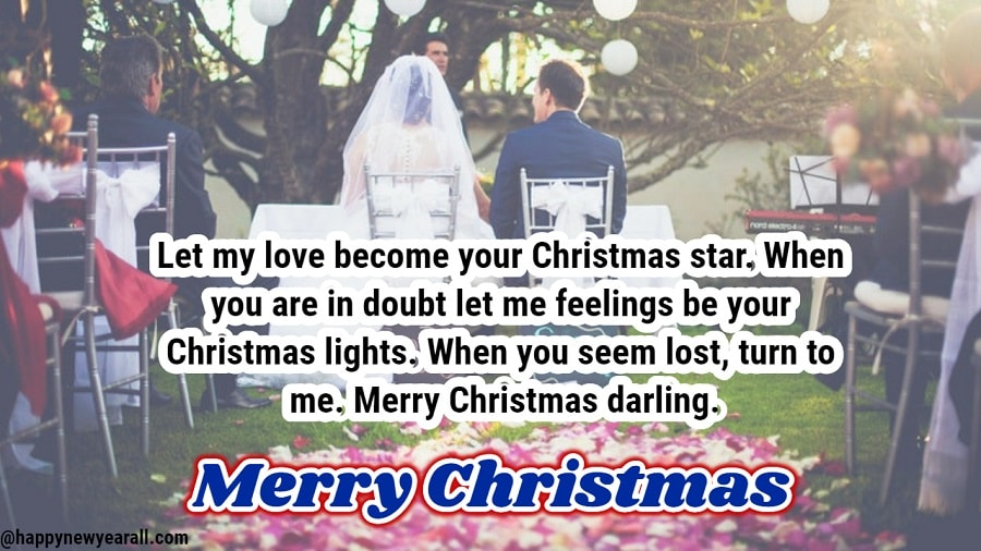 Romantic christmas wishes for wife