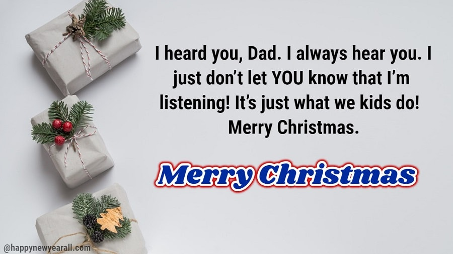 Christmas Wishes Messages For Dad 2019