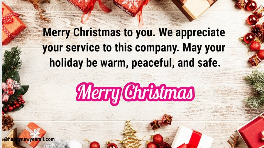 Merry Christmas Wishes for Employees