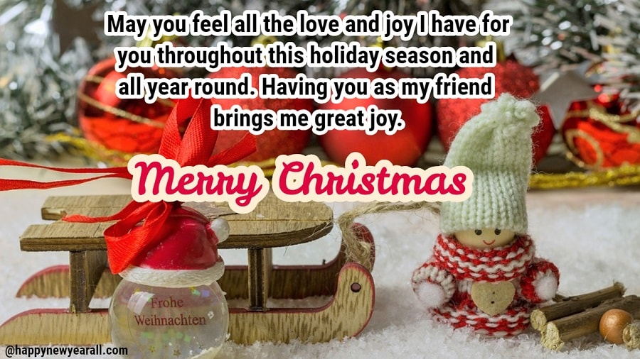 Happy Merry Christmas Wishes Messages For Friends - Happy New Year 2019
