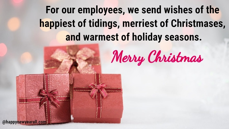 Merry Christmas Wishes Messages for Employees