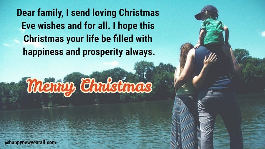 Merry christmas wishes text for family