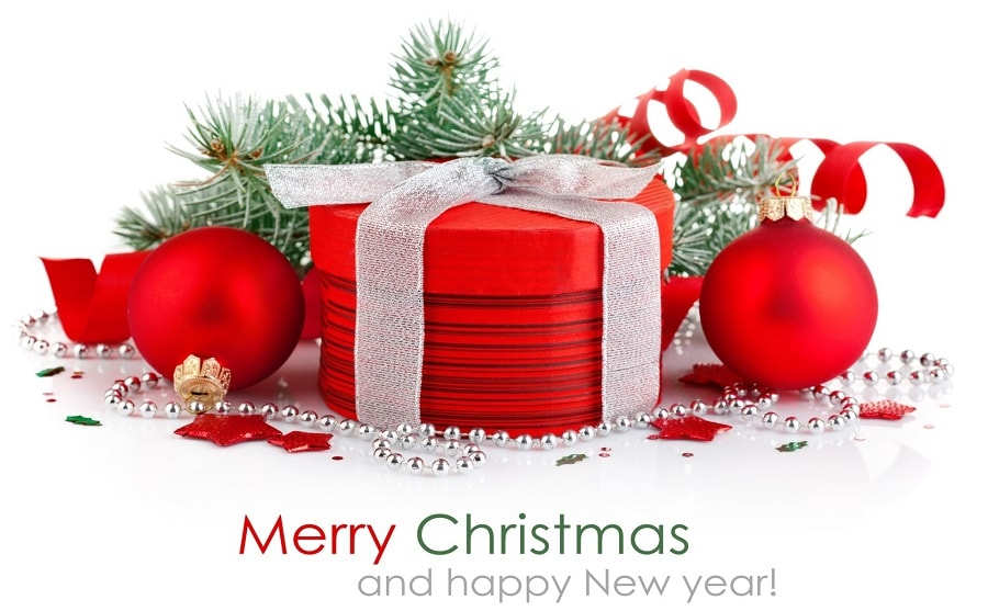 Wishing Merry christmas and happy new year