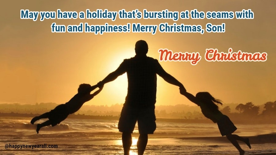Merry Christmas Wishes Messages for Son