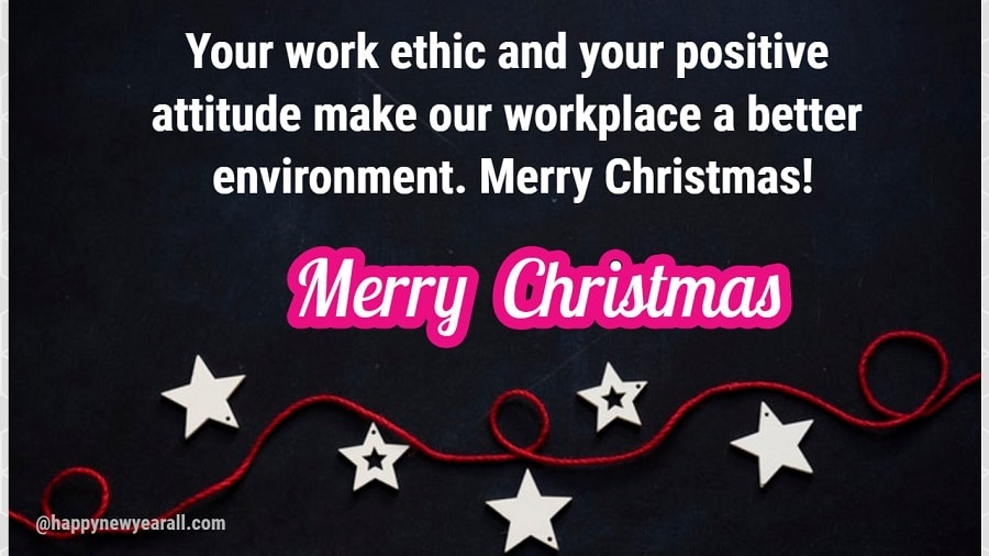 Christmas Card message to Employees