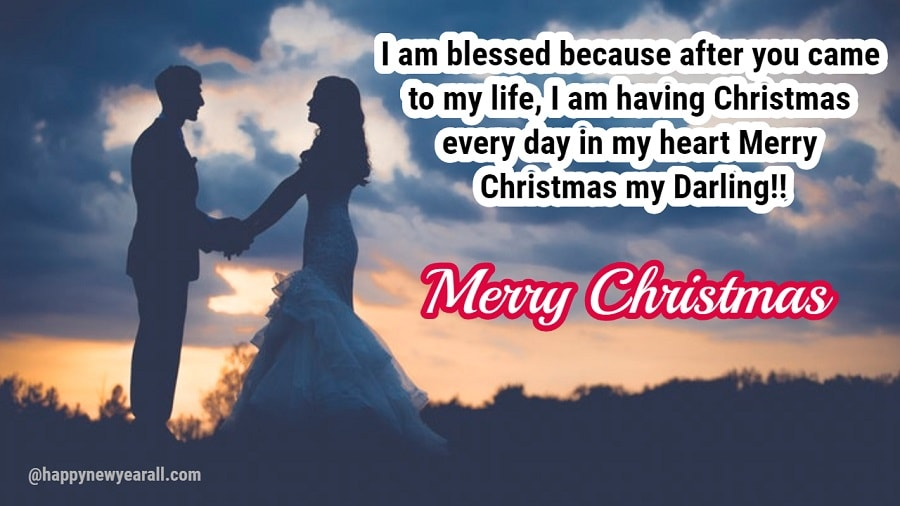 Merry christmas message for wife