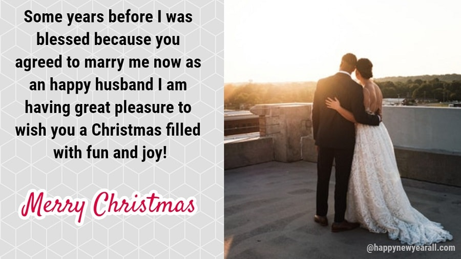 Merry christmas love messages for wife