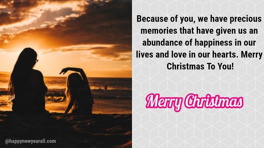 Happy Christmas Messages for Daughter