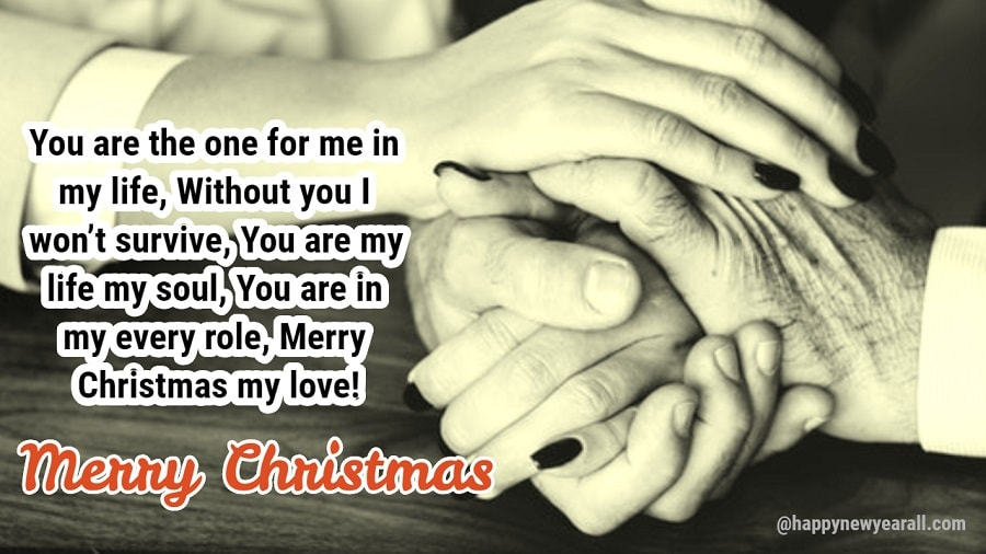 Romantic christmas message for wife