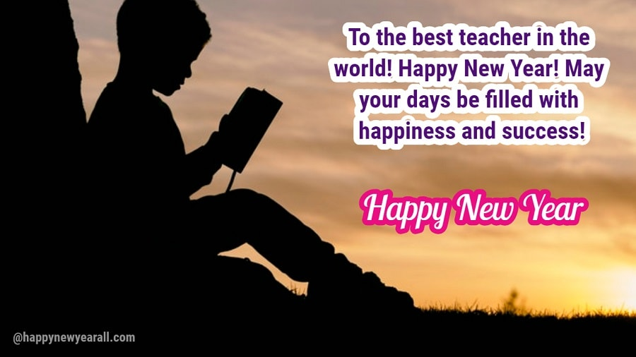 Happy New Year Messages for Teachers