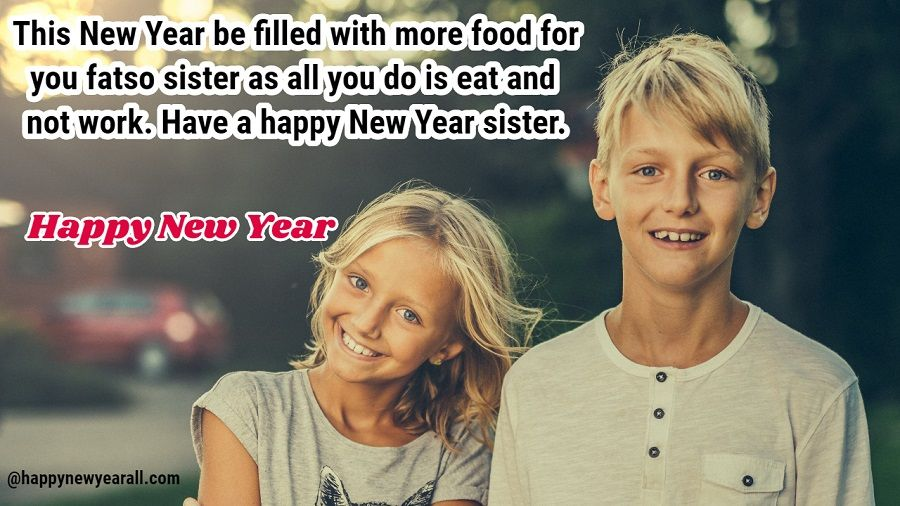Happy New Year SMS for Sister