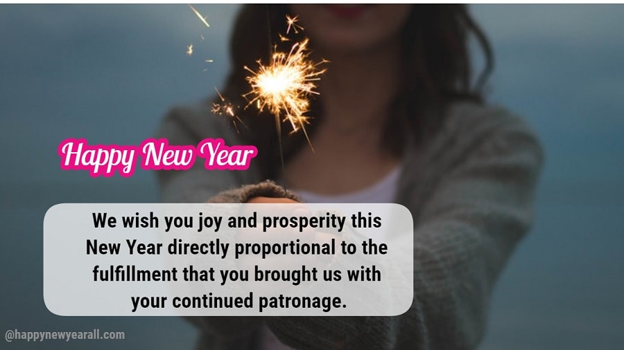 Professional New Year Wishes for Client