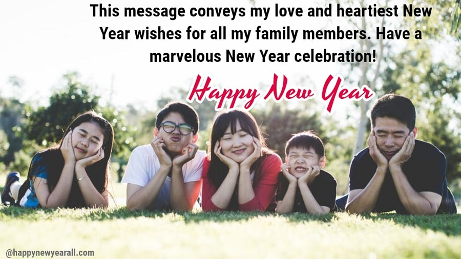 Happy new year quotes for family members