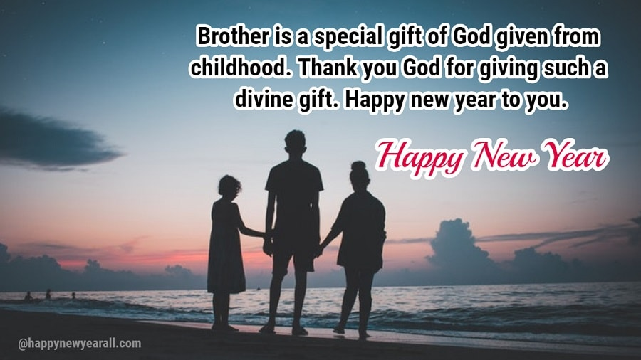 Happy new year messages for brother