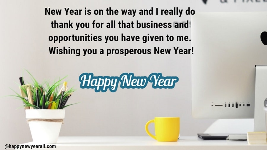 new year wishes for business client 2019