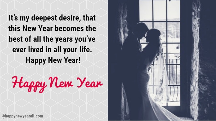Romantic new year quotes for wife